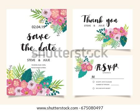 Wedding invitation card template text stock vector 675080497 wedding invitation card template with text stopboris Choice Image