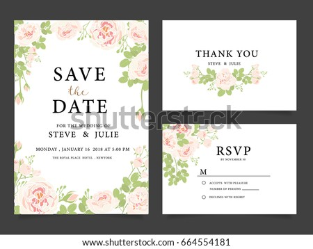Wedding Invitation Card Template Text Stock Vector 675080431 ...