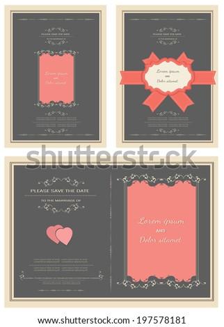 wedding invitation card vector  - stock vector