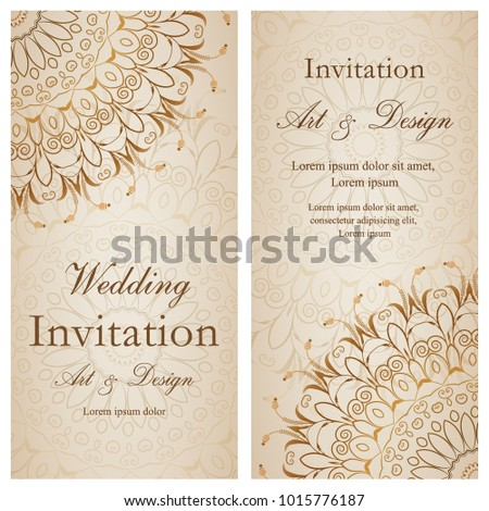 Wedding invitation card vector floral background stock photo photo wedding invitation card vector floral background illustration stopboris Images