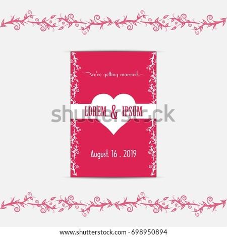 Wedding invitation card vector illustration eps stock vector wedding invitation card vector illustration eps file stopboris Image collections