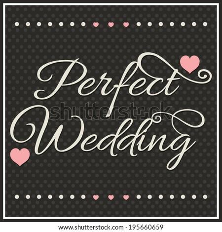 Wedding invitation card, wedding typography  - stock vector