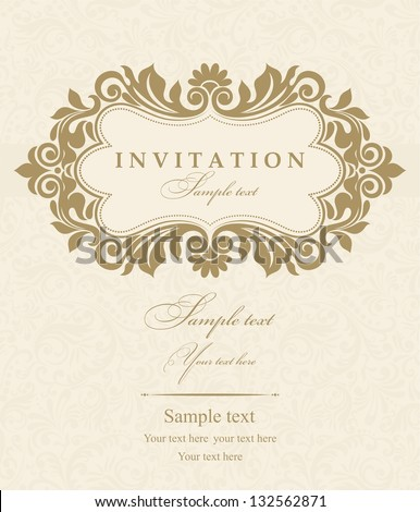 Invitation Card Design Stock Images, Royalty-Free Images & Vectors | Shutterstock
