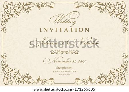 Invitation Card Design Images RoyaltyFree Images Vectors – Invitation Cards Designs