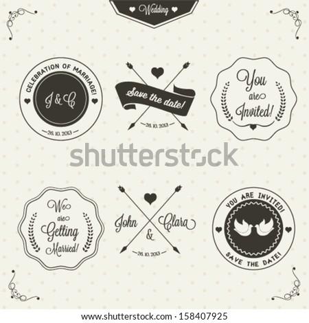 Wedding invitation design - stock vector