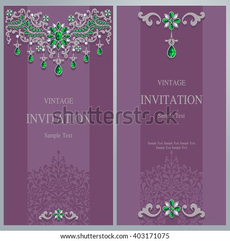 Wedding invitation or card with abstract background. Islam, Arabic, Indian.