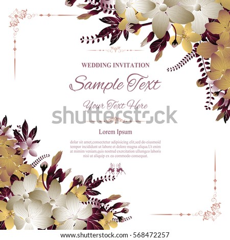 Wedding invitation greeting card abstract floral em vetor stock wedding invitation or greeting card with abstract floral background vector illustration stopboris Gallery