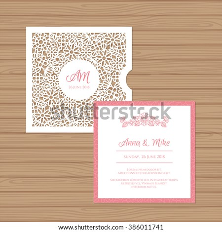 Wedding Card Template Stock Images RoyaltyFree Images  Vectors