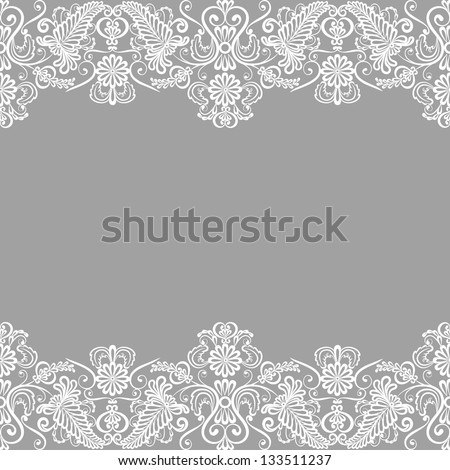 Wedding Invitation Greeting Card Lace Border Stock Vector ...