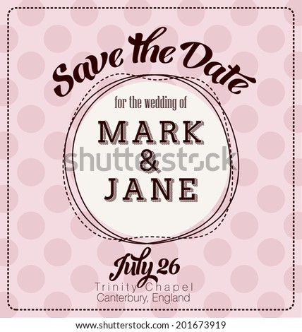 Wedding Invitation Template Design - Save the Date