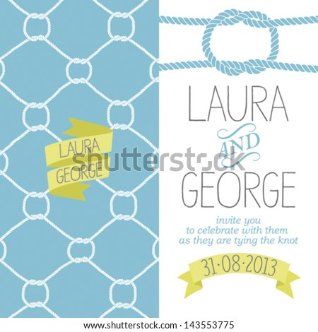 Wedding invitation template, nautical style, number 2