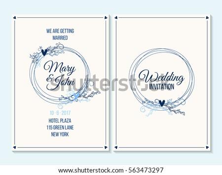 Wedding invitation thank you card save em vetor stock 563473297 wedding invitation thank you card save the date card wedding invitation baby stopboris Images