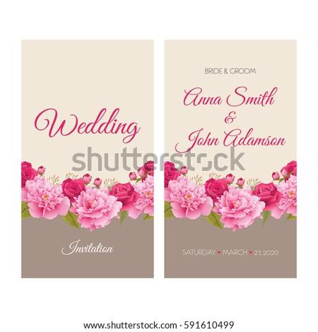 Colorful Greeting Wedding Invitation Card Illustration – Invitations Card for Wedding
