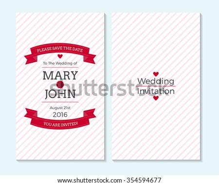 wedding invitation thank you card save stock vector 354594677 shutterstock. Black Bedroom Furniture Sets. Home Design Ideas