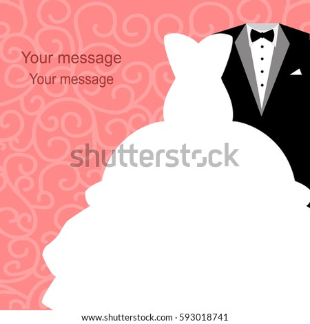 Wedding invitation tuxedo dress on abstract stock vector royalty wedding invitation with a tuxedo and dress on an abstract background bride and groom stopboris Choice Image