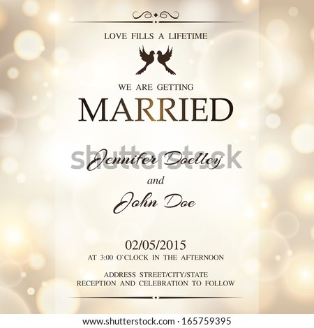 Format Of Wedding Invitation In English is best invitation sample
