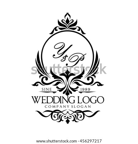 Wedding Logo Stock Vector 2018 456297217 Shutterstock