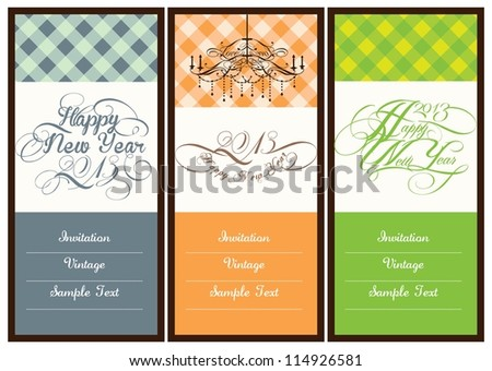 wedding or invitation card design - stock vector