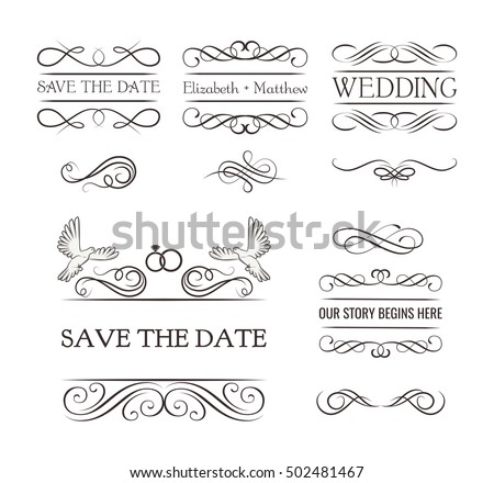 Wedding ornaments decorative elements vintage ribbon stock vector hd wedding ornaments decorative elements vintage ribbon frame badge vector love element wedding junglespirit Images