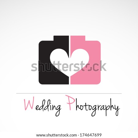 Wedding photography - creative, identification design. VECTOR illustration. - stock vector
