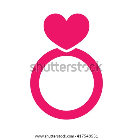 wedding ring jewellery love red pink icon