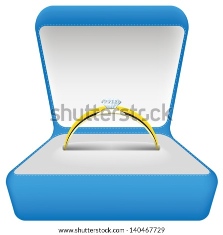 wedding ring vector illustration isolated ring box eps 8 / wedding ring vector / ml1413 - stock vector