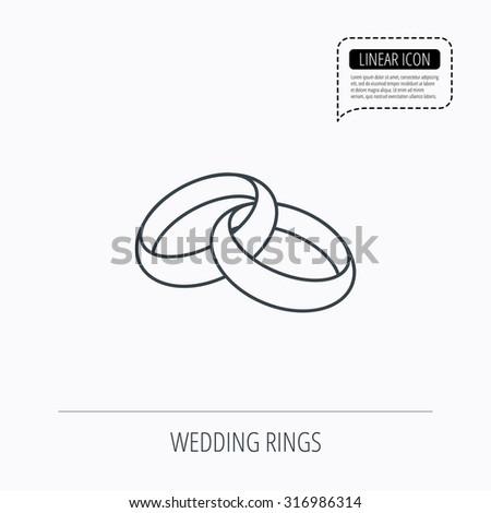 Wedding Rings Icon Bride Groom Jewelery Stock Vector 316986314