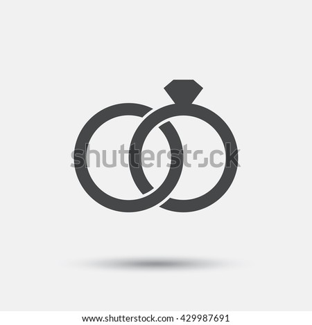 on image wedding symbol free royalty rings flat vector engagement sign icon vectorstock