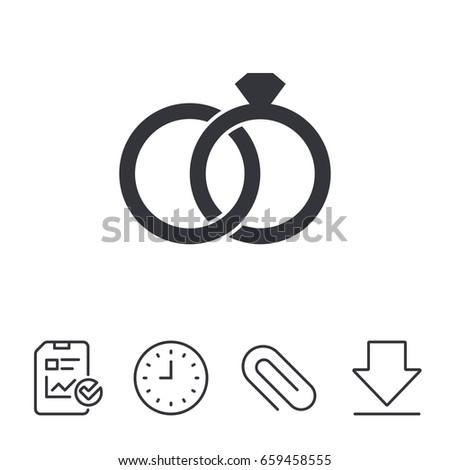 Wedding rings symbol  Wedding Rings Sign Icon Engagement Symbol Stock-vektorgrafik ...