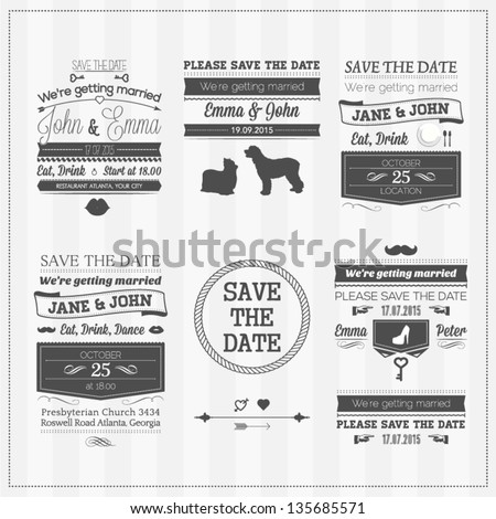 Wedding save the date - stock vector