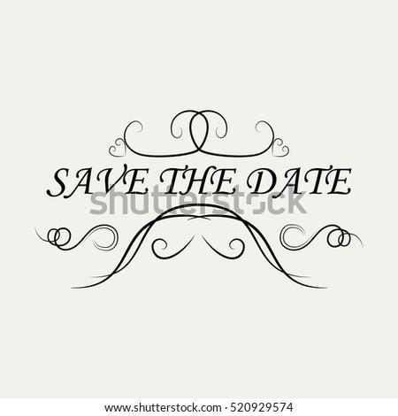 Weddingsave dateornamental decorative elementsvector weddingsave the dateornamental decorative elementsctor illustrationntage and filigree junglespirit Choice Image