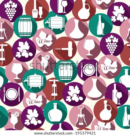 Wedding seamless pattern witch icons. - stock vector