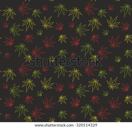 Weed pattern - stock vector