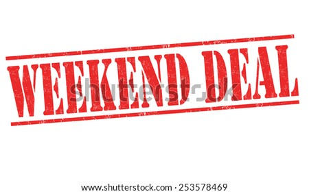 Weekend deal grunge rubber stamp on white background, vector illustration - stock vector