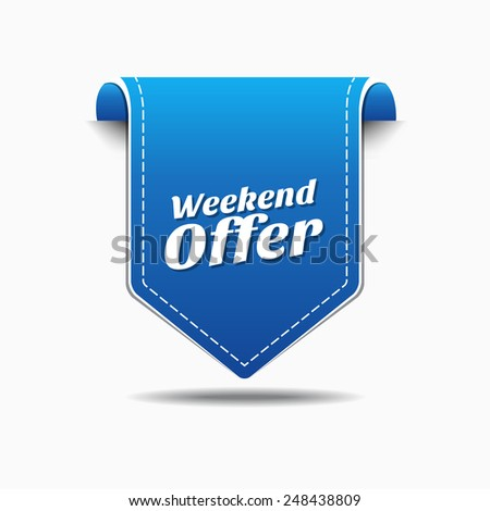 Weekend Offer Blue Vector Icon Design