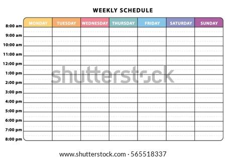 weely schedule