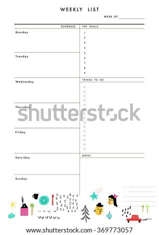 goal list template