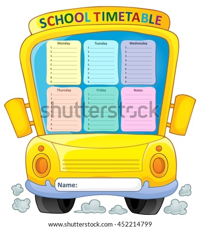 Weekly school timetable composition 4 - eps10 vector illustration. - stock vector