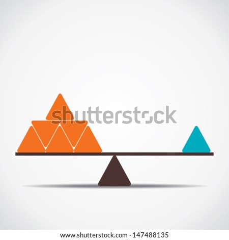 weighing concept vector - stock vector