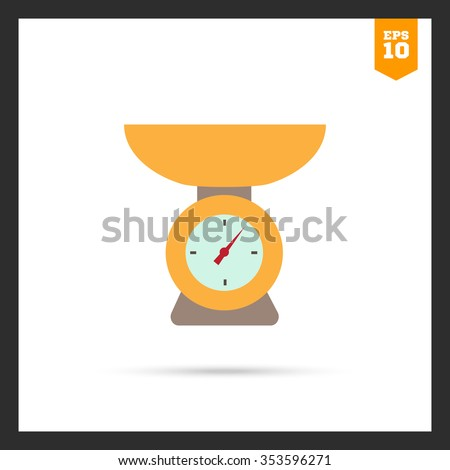 Weighing scales icon - stock vector