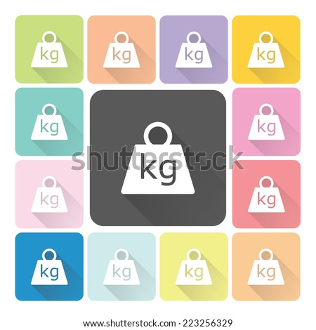 Weight Icon color set vector illustration. - stock vector