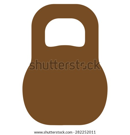 Weight icon from Basic Plain Icon Set. Style: flat vector image, brown color, rounded angles, white background. - stock vector