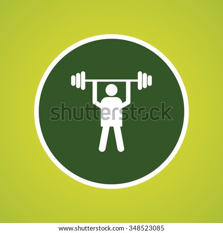 Weight Lifter Athlete Icon - stock vector