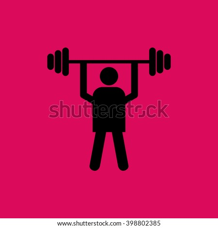Weight Lifter Icon. Eps-10 - stock vector