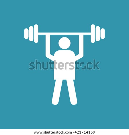 Weight Lifter Icon. Eps-10. - stock vector