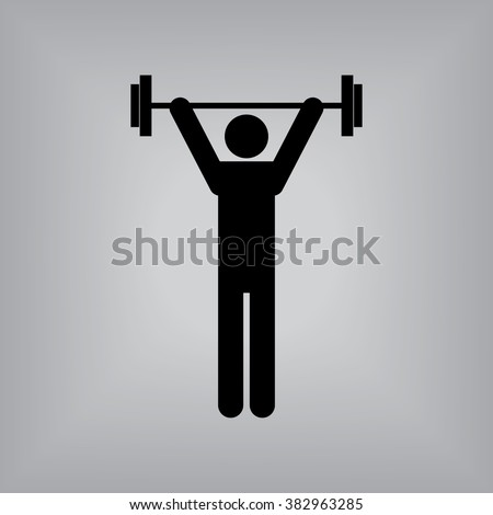 Weight Lifting - stock vector
