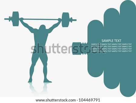 Weight lifting background - vector illustration - stock vector