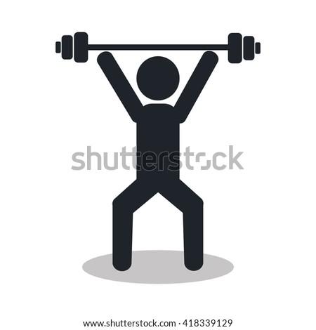 weight lifting design  - stock vector