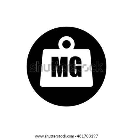 Weight Milligram Icon Stock Vector 481703197 Shutterstock