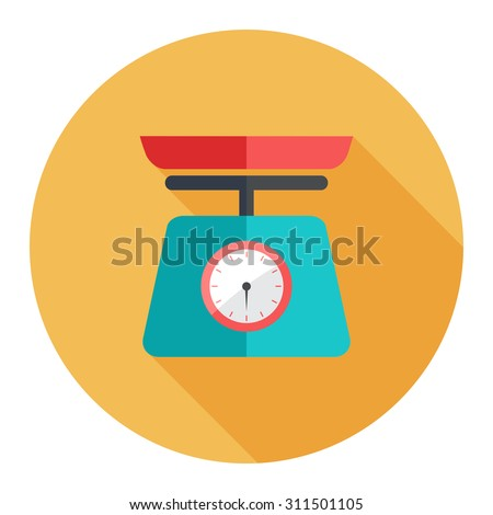 weight scale icon - stock vector